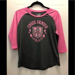 🔥 3/$15🔥 Under Armour girls Size XL long sleeve